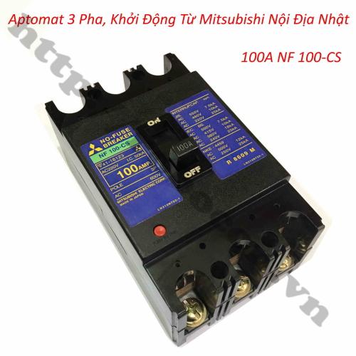 Aptomat 3 Pha, Khởi Động Từ Mitsubishi Nội Địa Nhật 100A NF 100-CS