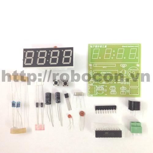 MDL89 Module Đồng Hồ LCD 7 Thanh DIY(Tự Hàn)
