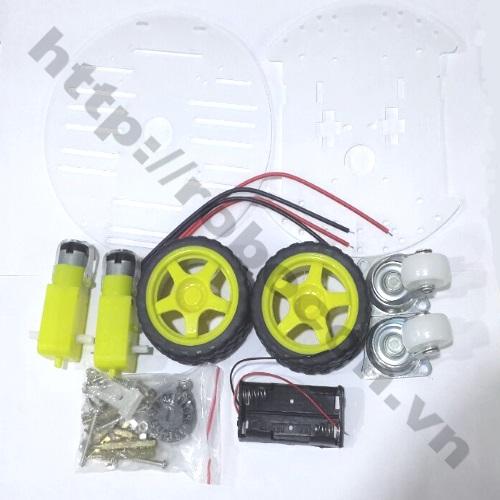 LKRB23 Bộ khung xe robot rùa 2 tầng nhựa