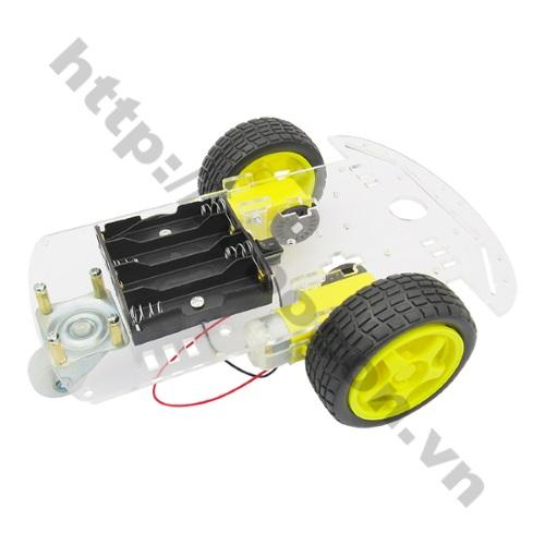 LKRB24 Bộ khung xe robot 3 bánh 1 tầng - mica