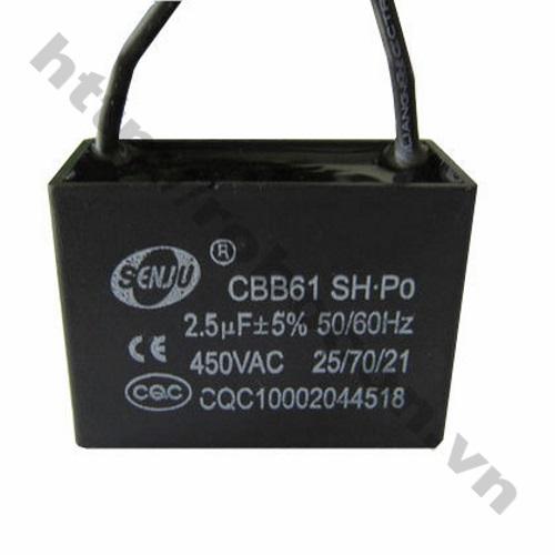 TD119 Tụ quạt dây 450V 2.5uf