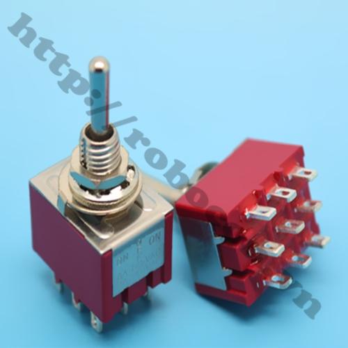 CO81 Công tắc gạt 9 chân màu đỏ 2A-5A 250V