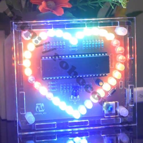 MDL140 Module Đèn LED Trái Tim 7 Màu – Nháy Theo Nhạc ( Tự Ráp)