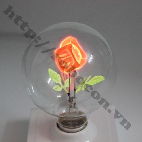 Bóng Đèn Neon Hình Hoa Hồng