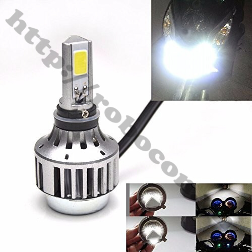 LED81 Đèn Pha Led Xe Máy H4 (1 Cặp)