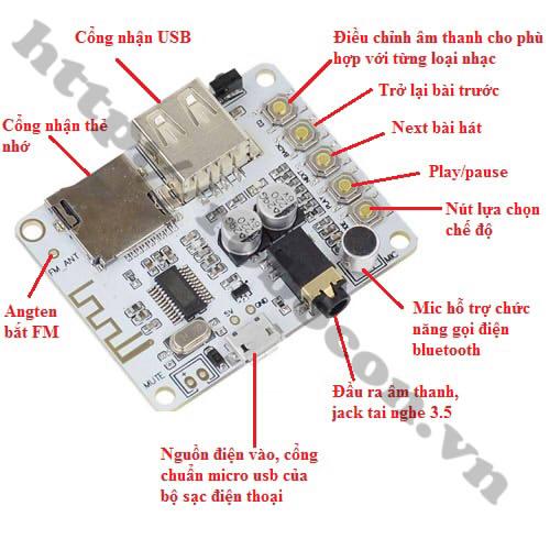 MDL166 Module Khuếch Đại Âm Thanh Bluetooth Có Điều Khiển Từ Xa