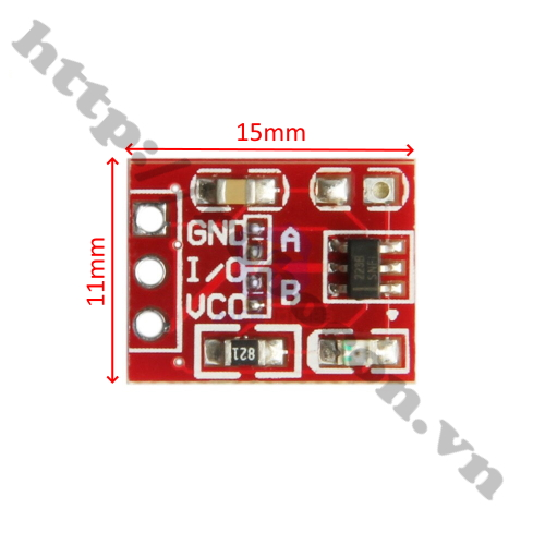 MDL322 module cảm biến 1 chạm TTP223 mini đỏ