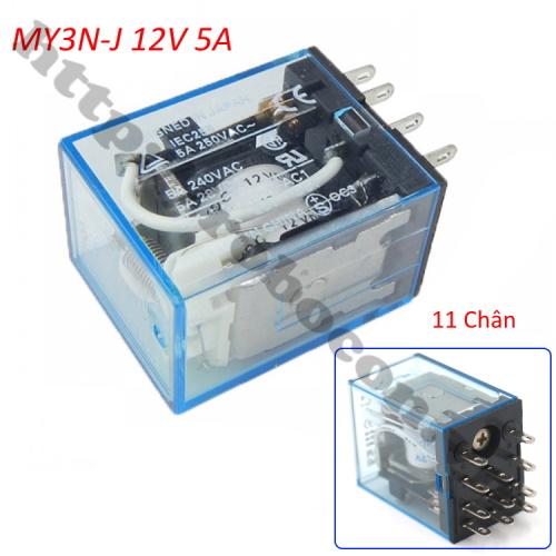 RE33 Relay Trung Gian MY3N-J 12V 5A 220VAC 11 Chân