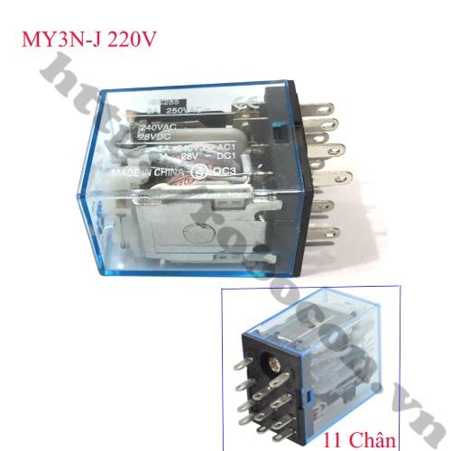 RE35 RELAY TRUNG GIAN MY3N-J 220V 5A 11 CHÂN