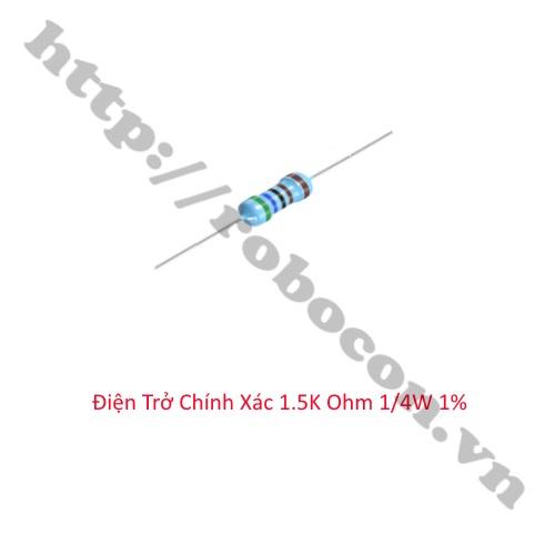 DT272 Điện Trở Chính Xác 1.5K Ohm 1/4W 1%
