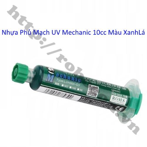 Nhựa Phủ Mạch UV Mechanic 10cc Màu Xanh Lá