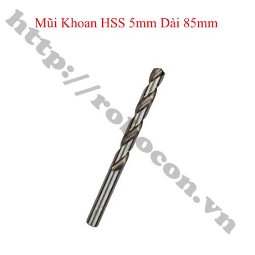 PKK1125 Mũi Khoan HSS 5mm Dài 85mm