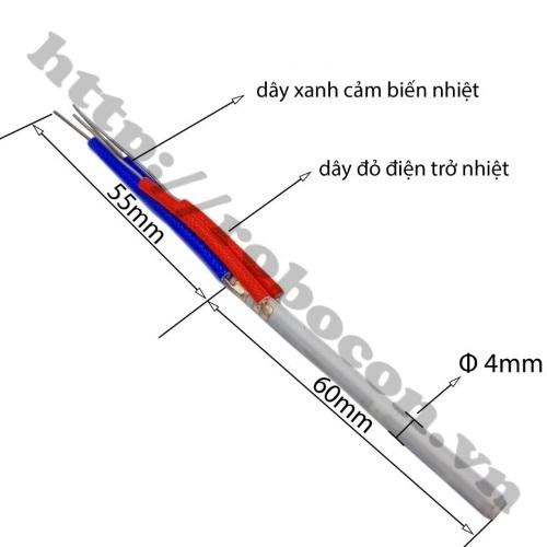 Kích thước Lõi Gia Nhiệt A1321