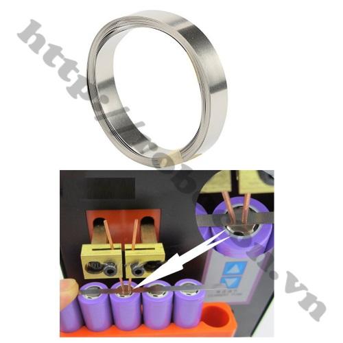 Ứng Dụng Kẽm Hàn Cell Pin 0.1x7mm