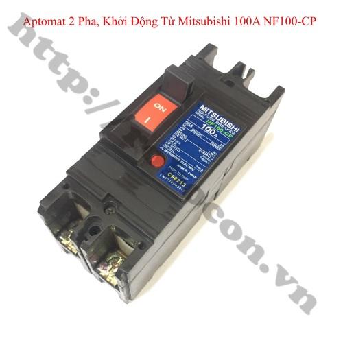 PKK1148 Aptomat 2 Pha, Khởi Động Từ Mitsubishi Nội Địa Nhật 100A NF100-CP