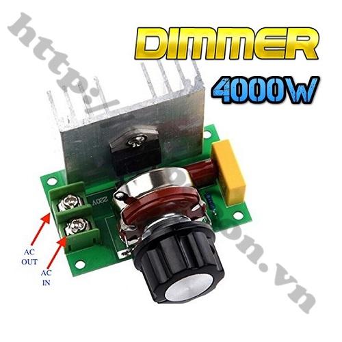 MDL311 DIMMER ĐIỀU TỐC 220VAC BTA41600B 4000W