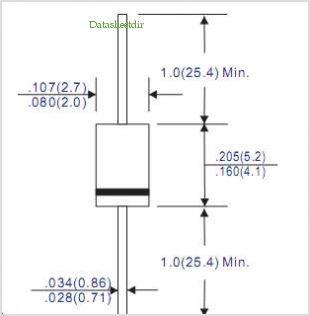 Sơ đồ kích thước Diode xung 1A FR107