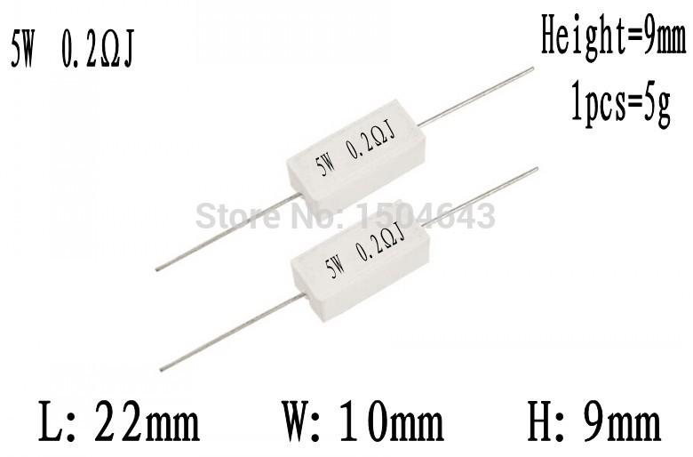 Điện trở sứ là cách gọi khác của các điện trở công suất , điện trở này có vỏ bọc sứ, khi hoạt động chúng toả nhiệt