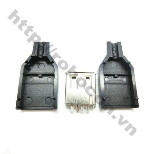 CO69 Đầu USB cái vỏ 2 mảnh