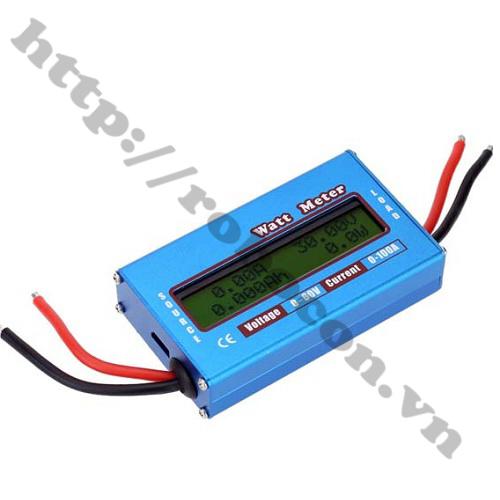 PKK318 Đồng Hồ LCD Đo Dòng Volt Ampe Dc 0-100A 0-60V (Chính Hãng)