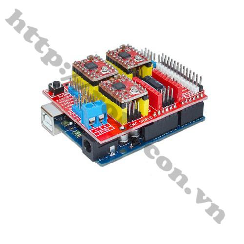 MDL174 Module CNC Shield V3 Sử dụng với arduino và module A4988