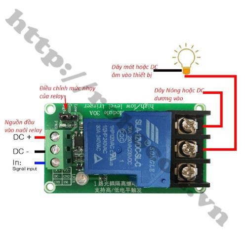 MDL208 Module Relay 1 Kênh 12V- 30VDC/250VDC-30A