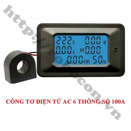 MDL308 Công Tơ Điện Tử AC Đo 6 Thông số 100A