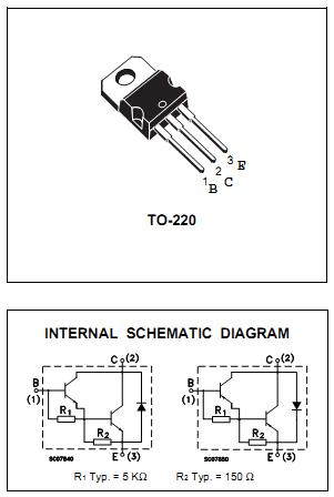 Sơ đồ chân và cấu tạo TIP127