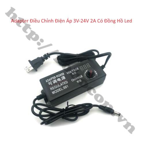 Adapter Điều Chỉnh Điện Áp 3V-24V 2A Có Đồng Hồ Led
