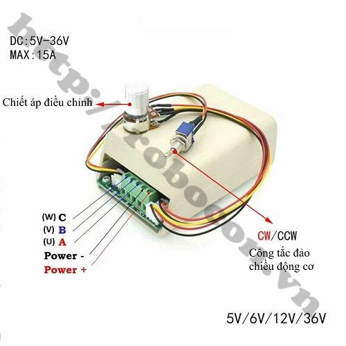 MDL330 Bộ IC Điều Tốc ESC Cho Động Cơ Không Chổi Than Brushless Chế Quạt 5V - 36V 15A