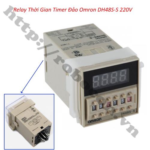 Bộ Relay Timer Omron DH48S-S 220V 5A, Công Tắc Hẹn Giờ Bật Tắt Tự Động