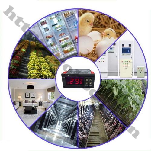 ứng dụng Bộ Điều Khiển Nhiệt Độ Đóng Ngắt Relay 220VAC STC-1000