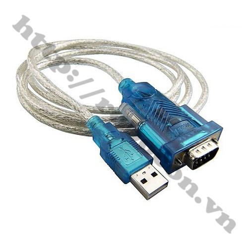 CO138 Cáp Chuyển USB Sang RS232 Cổng Com Đực 9 Chân HL340