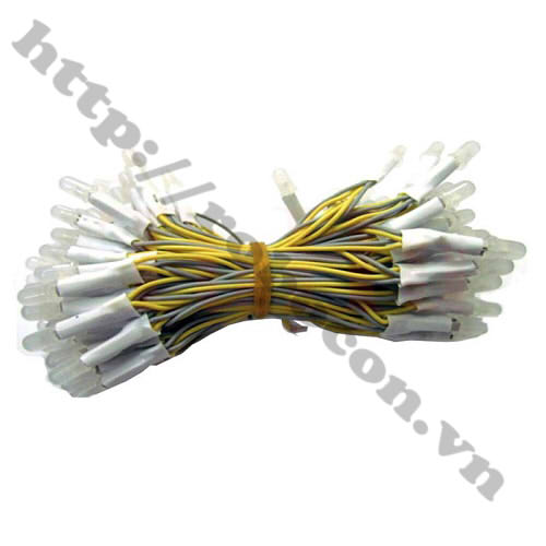 LED88 LED Liền Dây Phi 5 Màu Vàng (100 Bóng)