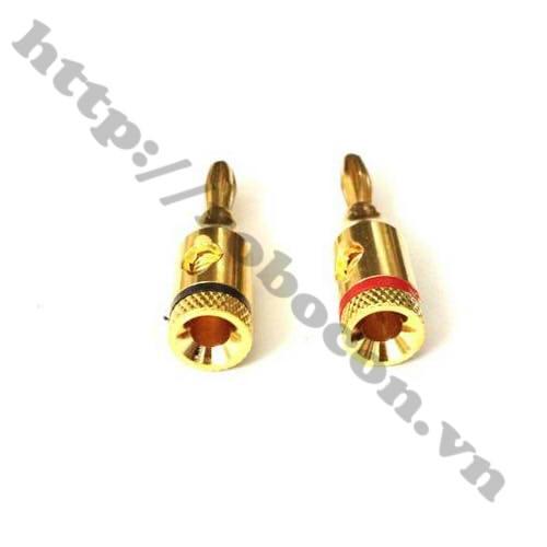 PKAT91 Jack Bắp Chuối Đực Mạ Vàng 4mm (1 Cặp)
