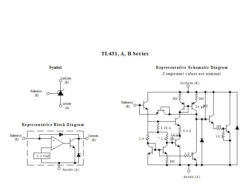 Sơ đồ cấu tạo TL431A