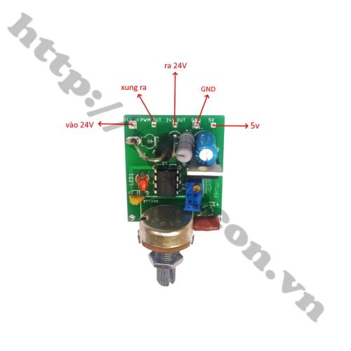 MDL324 Module mạch xung điều khiển động cơ brushless chế quạt 3 pha 12-24V