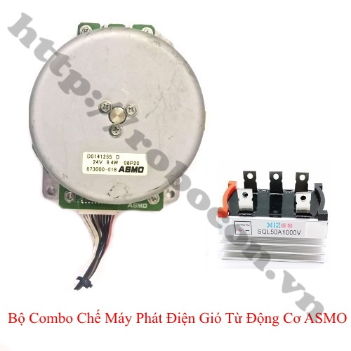 CBM142 Bộ Combo Chế Máy Phát Điện Gió Từ Động Cơ ASMO 9.4W