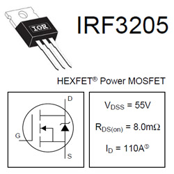 Sơ đồ chân Mosfet IRF3205