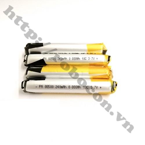 Pin Lithium 3.7V 08500 -240mAh dạng trụ tròn cho tai nghe bluetooth