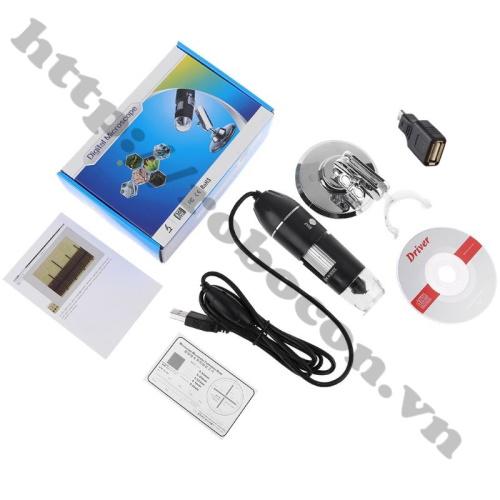 Kính Hiển Vi Điện Tử Phóng Đại 1000X Kèm Đầu Chuyển OTG – Micro USB Cho Điện Thoại
