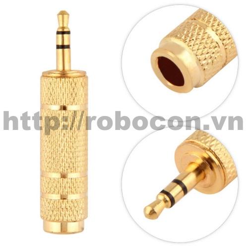 PKAT5 Jack Chuyển Đổi Audio 3.5 mm Sang 6.5 mm - Đồng