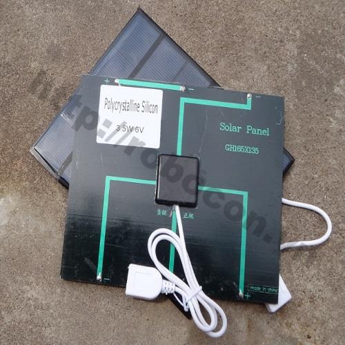 LKRB64 Tấm Pin Sạc Điện Thoại Năng Lượng Mặt Trời 6V-3.5W
