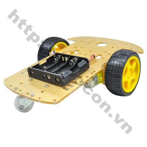LKRB25 Bộ khung xe robot 3 bánh 1 tầng - nhựa