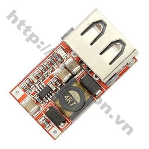 MDL123 Module mạch BUCK mini hạ áp 6-24V xuống 5V-3A cổng USB