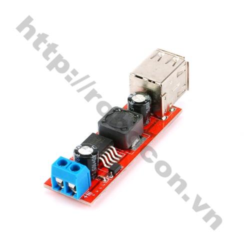 MDL122 Module mạch BUCK hạ áp 9V-12V-24V-36V XUỐNG 5V-3A Loại 2 cổng USB