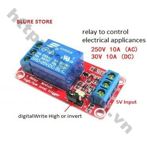 MDL125 Module Relay 1 kênh 12V-AC 250V10A - DC 12V-30V10A