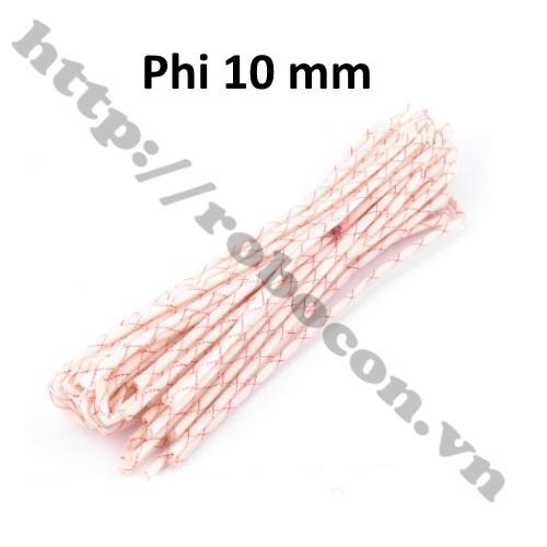Gen thủy tinh cách điện, cách nhiệt, phi 10 mm - dài 1m
