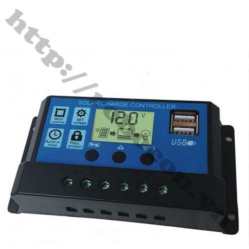 PPKP32 Bộ Điều Khiển Sạc Năng Lượng Mắt Trời Hiển Thị LCD 10A 12-24V