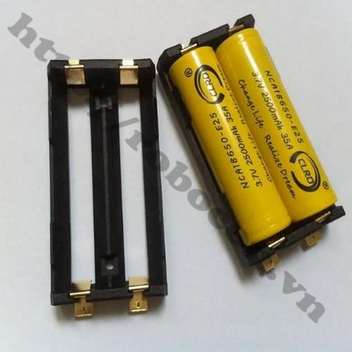 PPKP77 Đế Gắn Pin SMT 18650-2 Pin Mạ Đồng Loại Tốt